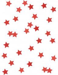 Konfetti røde stjerner
