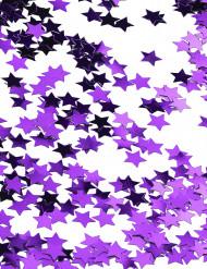 Konfetti metallisk lilla stjerner