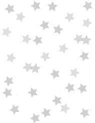 Konfetti stjerner i metallisk sølv