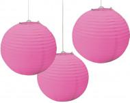 Lanterner 3 stk. rosa