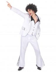 Kostume disko hvid og sølv til mænd