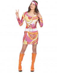 Pink hippiekjole til kvinder