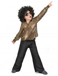 Disco-kostume med guldpailletter drenge