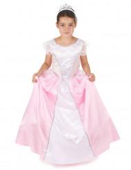 Lyserød og hvid prinsessekjole til piger