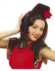 Hovedbeklædning med slør spansk dame til voksne