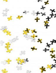 Konfetti kors sølv og guld