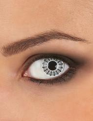 Kontaktlinser med spindelvæv i sort og hvid voksne Halloween