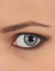 Fantasilinser med spiral i sort og hvid voksne