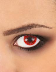 Kontaktlinser med spindelvæv i sort og rød voksne Halloween