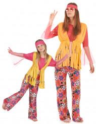 Parkostume hippie multifarvet mor og pige