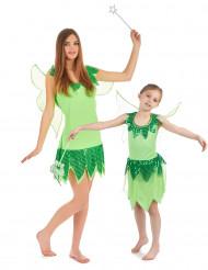 Parkostume grønne feer mor og datter