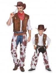 Par kostume cowboy far og søn