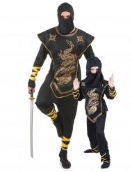 Parkostume far og søn ninja