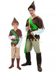 Kostume grøn skovmand til far og søn
