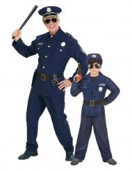 Parkostume politi far og søn