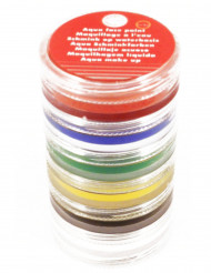 Sminkesæt stak med 6 vandfarver