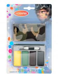 Mini sminkesæt militær/ camouflage til børn