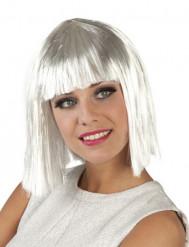 Paryk hvid kort kvinde