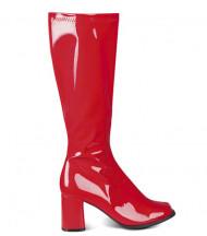 Støvler røde lakerede til kvinder