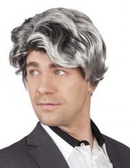 Paryk kort grå mand