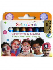 6 sminkestifter uden parabener metallic-farver Grim Tout