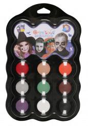 Palet med 9 farver halloween Grim Tout