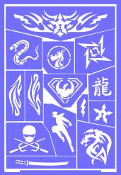 Sminkestencil ninja genanvendelig Grim Tout