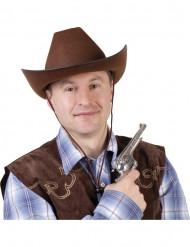 Mørkebrun cowboyhat til voksne
