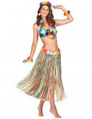 Lang flerfarvet nederdel Hawaii inspireret