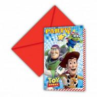 6 invitationskort Toy Story Star Power™