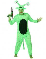 Grøn alien dragt