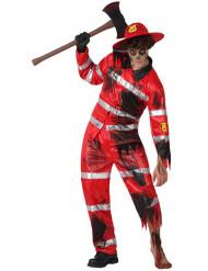 Kostume brandmand zombie til mænd Halloween