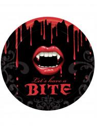8 Paptallerkener Blodig mund