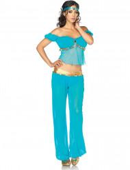 Kostume danserinde orientalsk blå til kvinder