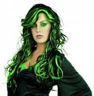 Paryk sort og grøn kvinde