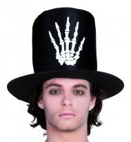 Høj hat med skelethånd mand