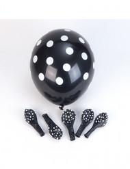 Balloner 6 stk sort og hvid