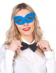 Blå fastelavnsmaske voksen