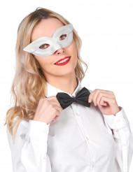 Hvid fastelavnsmaske, voksen