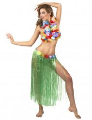 Nederdel Hawaii lang grøn til voksne