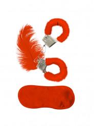 Kit med røde pelsaccessories voksen