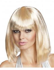 Paryk, lang page blond med pandehår