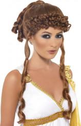 Rødbrun paryk græsk gudinde