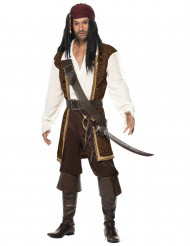 Brunt piratkostume voksen