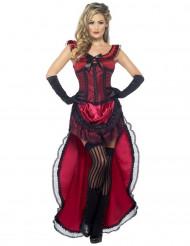 Kostume saloon-pige rød