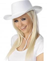 Hvid cowboyhat voksen