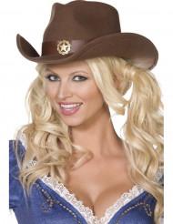 Cowboyhat sherif voksen