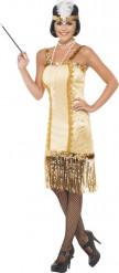 Kostume Charleston i guld til kvinder