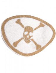 Hvid og guld piratøjenklap