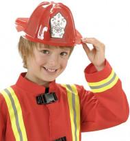 Rød brandmandshjelm til børn